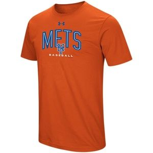 New York Mets Under Armour Orange Performance Tee
